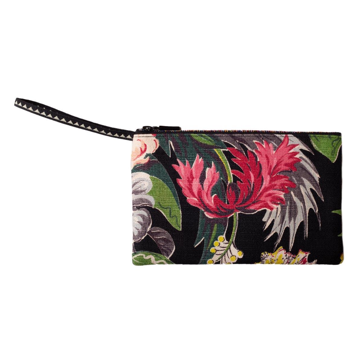 Floral Motif on Black