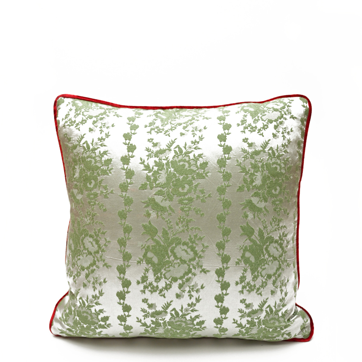 """**Extremely Rare** Cowboy Motif on Cherry Red – Single Pillow, Pair available  – 20"""" x 20"""""""
