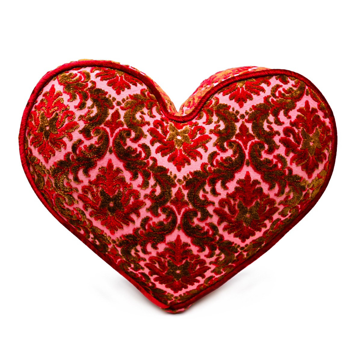 Large Heart Pillow – Lipstick Red Velvet