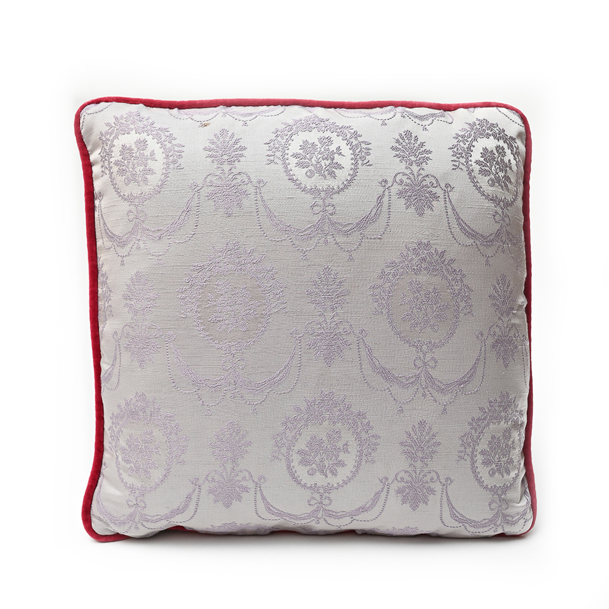 Floral on Ballet Pink – Single Pillow , Pair available – 18″ x 18″