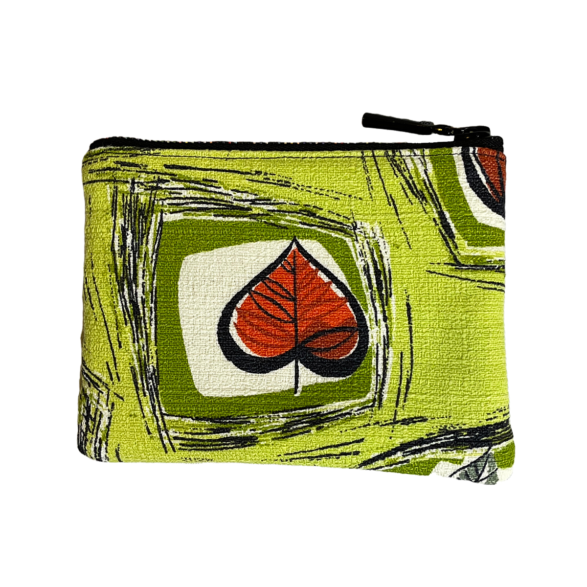 Coin Purse – Mid Century Abstract Leaf