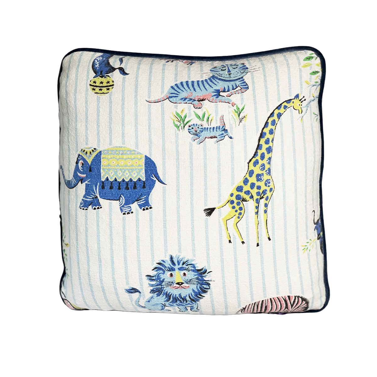Lions and Tigers- Single Pillow 1 18 x 18